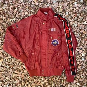 Vtg 80s Caesar's Palace Grand Prix Racing Jacket